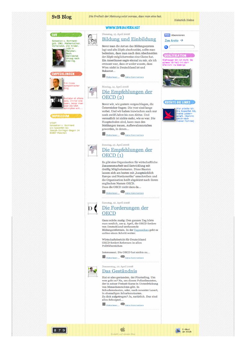 Altes Blog (iWeb)
