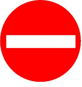 einfahrtverboten